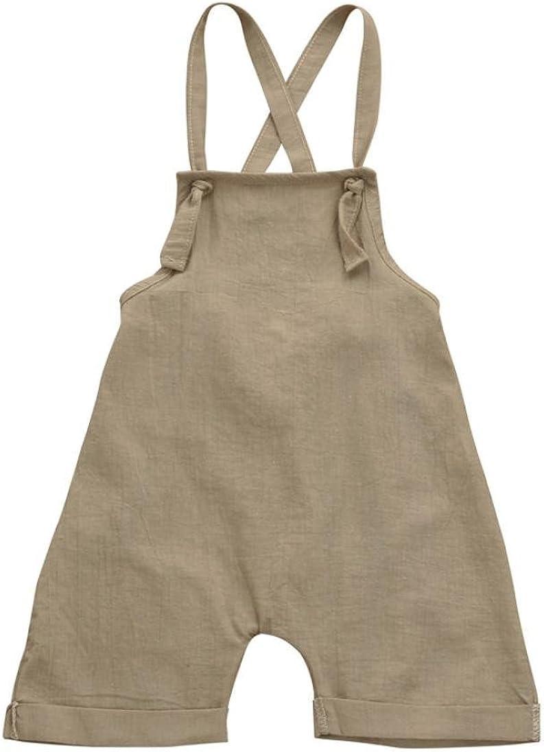 PAOLIAN Monos Ropa para Unisex bebé niñas Tirantes de Pantalones Corta Verano 2018 Sólido Peleles para bebés niños niñas de 12 Meses 18 Meses 24 Meses 3 años (80, Caqui): Amazon.es: Ropa y accesorios