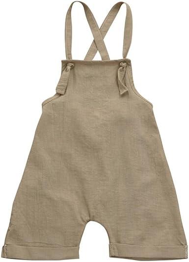 PAOLIAN Monos Ropa para Unisex bebé niñas Tirantes de Pantalones Corta Verano 2018 Sólido Peleles para bebés niños niñas de 12 Meses 18 Meses 24 Meses 3 años: Amazon.es: Ropa y accesorios