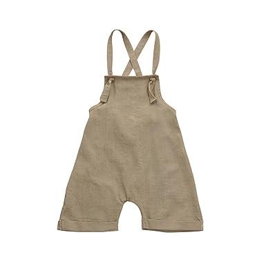 PAOLIAN Monos Ropa para Unisex bebé niñas Tirantes de Pantalones Corta Verano 2018 Sólido Peleles para