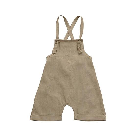 PAOLIAN Monos Ropa para Unisex bebé niñas Tirantes de Pantalones Corta Verano 2018 Sólido Peleles para bebés niños niñas DE 12 Meses 18 Meses 24 Meses 3 ...