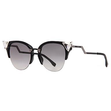 1fb9f0a18aca8 Amazon.com  Fendi Women s Iridia Crystal Corner Sunglasses
