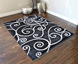 Gallery Modern Area Rug Design 23 Grey (8 Feet X 10 Feet) For Sale