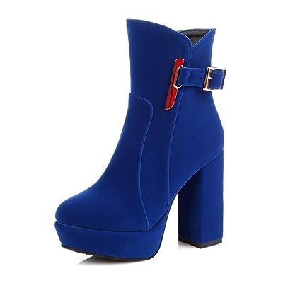 AdeeSu Sxc01727, Plateforme Femme - Bleu - Bleu, 36.5 EU