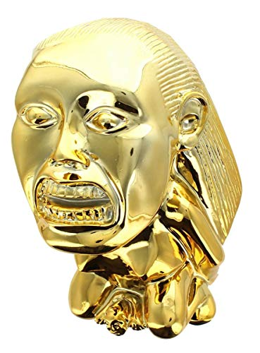 Golden Statue - Indiana Jones Idol Golden Fertility Statue | Raiders Of The Lost Ark Movie Prop  Replica | 80s Film Memorabilia and Collectibles | Perfect for Collectors, Cosplay, Costumes