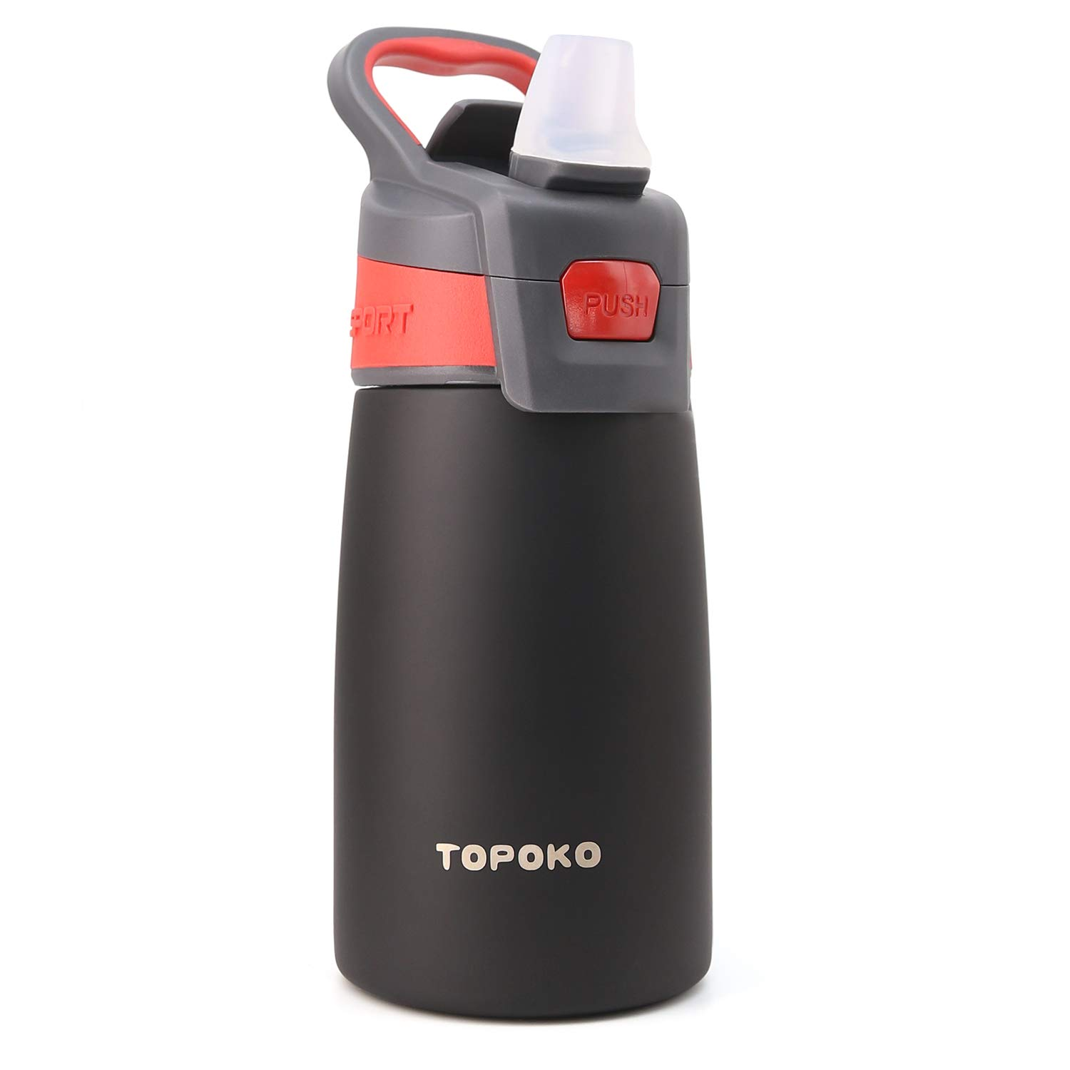 TOPOKO AUTO FLIP 12 OZ Stainless Steel Kids Water Bottle for Girls Double  Wall Beverage Carry Kid Cup Vacuum Insulated Leak Proof Thermos Handle  Spout