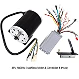 TDPRO 48V 1800W Brushless Electric Motor and Controller and Throttle Accelerator Pedal Set For Go Kart Scooter E Bike Motorized Bicycle ATV Moped Mini Bikes