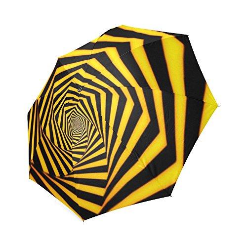 Price comparison product image Customized Unique Hypnotic Effect Folding Rain Umbrella / Parasol / Sun Umbrella