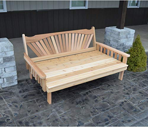 A & L Furniture Co. Western Red Cedar 6' Fanback Daybed - Ships Free in 5-7 Business Days