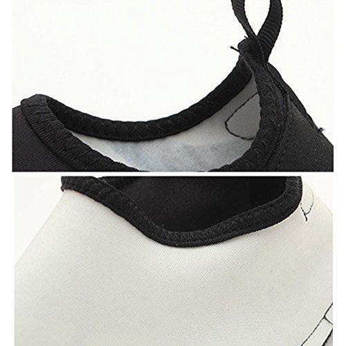 Eastlion Breathable Sportschuhe Geometrische Muster Schwimmen Strand Schuhe Barefoot weiche bequeme Schuhe Jogging Blau
