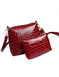 Bessky® 1 Set Fashion Womens Girls Women Handbag Shoulder Bag Leather Messenger Satchel Purse Tote Crocodile Bags