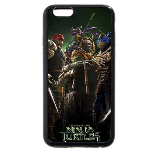 "UniqueBox Customized Black Soft Rubber(TPU) Teenage Mutant Ninja Turtles(TMNT) iPhone 6 4.7 Case, Only fit iPhone 6(4.7"")"