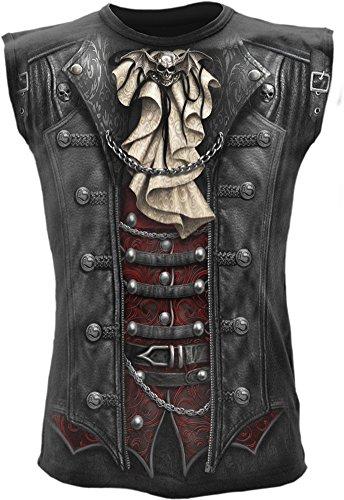 Fantasy Wrap Top (Spiral Mens - Goth Wrap - Allover Sleeveless T-Shirt Black - L)