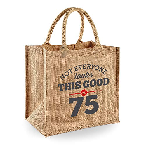 Funny 75th Birthday Tote Bag for Women