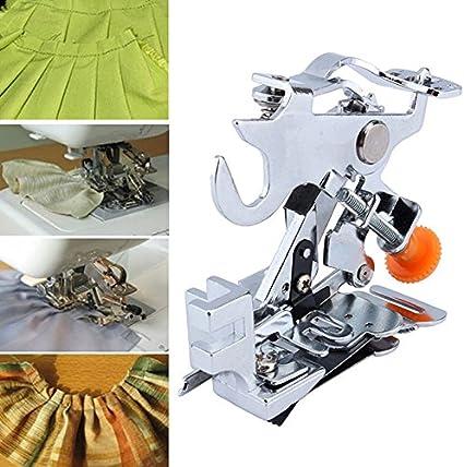 chengyida hogar Ruffler Presser plisado de pie bajo filo prensatela de fijación de pie máquina de coser accesorios