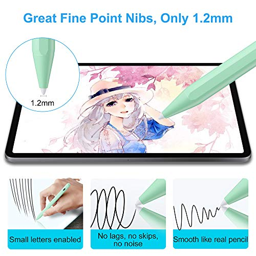 Stylus Pen for iPad with Palm Rejection, FOJOJO Active Pencil Compatible with (2018-2020) iPad 8th/7th/6th Gen, iPad Air 4th/3rd Gen, iPad Pro 11 & 12.9 inch, iPad Mini 5th Gen
