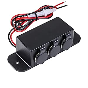 51rhtvaiDoL._SY300_ amazon com automotive dc power outlet extension [heavy duty] [12v  at bayanpartner.co