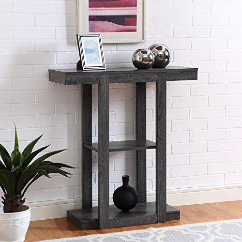 Foyer Console Reviews : Grey finish hall console sofa entryway accent table buy