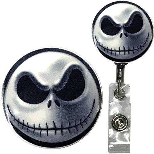 Jack Skellington Nightmare Before Christmas Inspired Symbol Real Charming Premium Decorative ID Badge Holder (Belt Clip HD)
