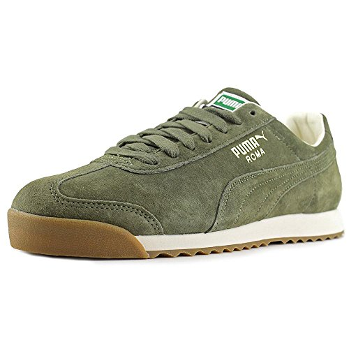 Puma Roma Distressed Men US 14 Green Sneakers (Suede Puma Roma)