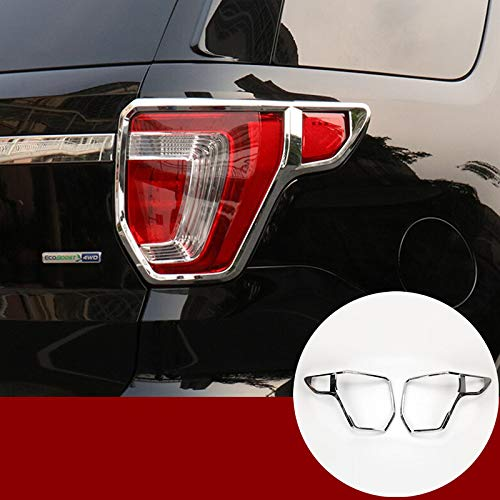 - HOTRIMWORLD ABS Chrome Rear Tail Light Trim Cover 2pcs for Ford Explorer 2016-2018