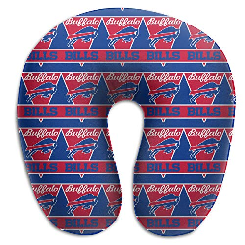 Marrytiny Custom Colorful Neck Pillow Atlanta Buffalo Bills Men Women Multi-Purpose U-Shaped Neck Support Cushion Travel Pillow for Airplanes Cars Trains Home Office Neck ()