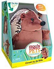 Deal on Creativity for Kids Sequin Pets Stuffed Animal Happy The Hedgehog 8.5 in. Brown. Discount applied in price displayed.