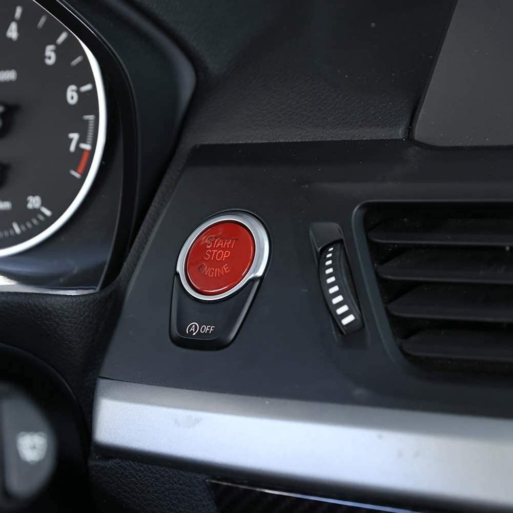 Red OFF Button Car Engine Start Stop Button Replace Upgrade Parts For F30 F10 F34 F15 F25 F48 X1 X3 X4 X5 X6 G30