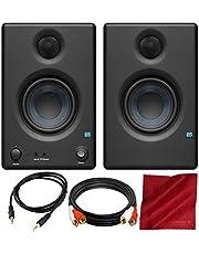 PreSonus Eris E3.5 monitores de referência multimídia profissionais de 3,5 polegadas com par de afinação acústica e conjunto de acessórios básicos