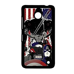 Plastic Back Phone Case For Child For Lumia 630 Printing Avengers Age Of Ultron 2 Choose Design 9