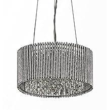 "Whse of Tiffany RL8104 Abigail 3-Light Crystal 12"" Chrome Chandelier"