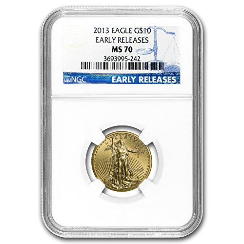2013 1/4 oz Gold American Eagle MS-70 NGC (Early Releases) Gold MS-70 NGC