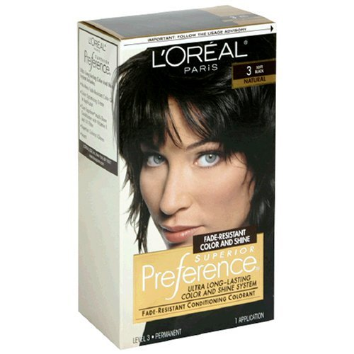 L'Oreal Preference Hair Color, 3 Soft Black, 1 Count (Pack of 12) by COSMAIR