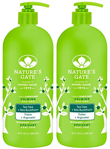 Nature's Gate Tea Tree Calming Conditioner, 32 Fluid Ounce (Pack of 2) Natures Gate Tea Tree Conditioner