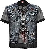 Spiral - Mens - THRASH METAL - Allover T-Shirt Black - XXL