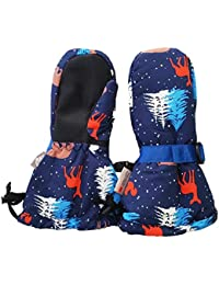 Waterproof Stay-on Winter Snow and Ski Mittens...