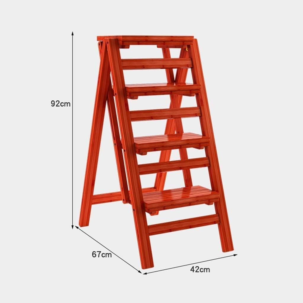 CSS Escalera, Taburete, Taburete Pequeño, Taburete de Bar, Taburete de Restaurante, Escalera de Mano, Silla, Mesas Y Sillas de Madera Plegable Simple de 3 Escalones, Escalera de 4 Escalones Bibliotec: Amazon.es: Bricolaje