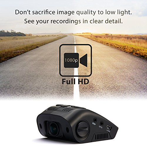 "Rexing V1 Car Dash Cam 2.4"" LCD FHD 1080p 170 Degree Wide Angle Dashboard Camera Recorder with Sony Exmor Video Sensor, G-Sensor, WDR, Loop Recording"