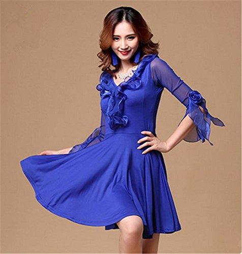 Dance Blue Peiwen Modern Training Salon Clothing Dress 1TqZI