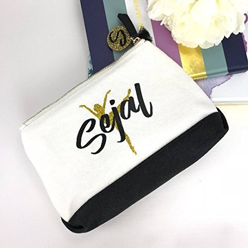 Amazon Com Personalized Dance Gift Ballet On Toe Zipper Pouch