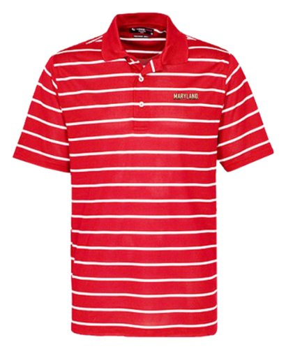 NCAA Men's Maryland Terrapins Feed Stripe Polo (Cardinal/White, XX-Large)
