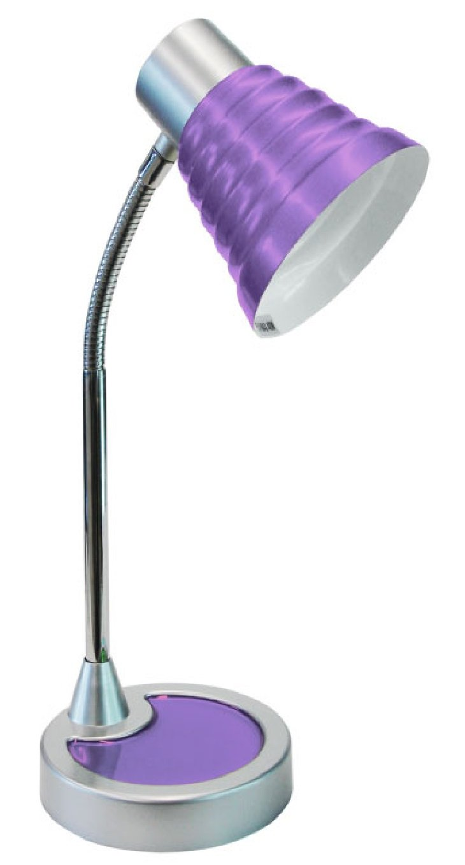 Lámpara de mesa moderna minadesign-escritorio de lila: Amazon.es ...