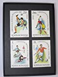Soccer Framed Postage Stamp Art - 3.5 x 5'' Item#F19