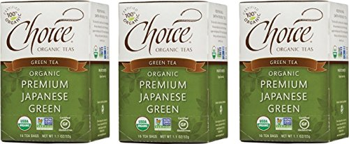 Choice Organic Teas Green Tea, 3 Boxes