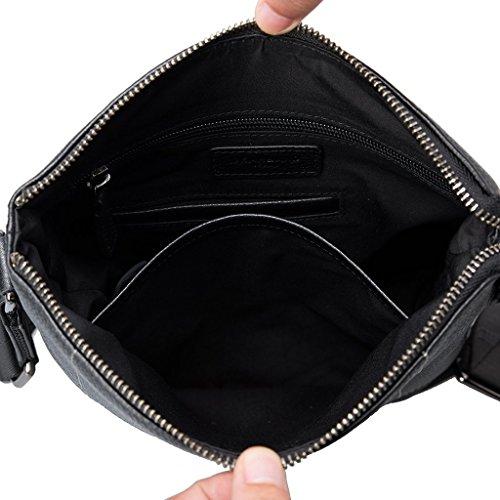 hombre Cuero G16100025 Band Bolso Gear 01 compact hombro de para al Negro Negro xfqRwaCaz