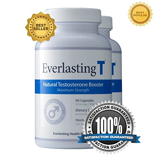 Everlasting T (2 Pack) - Testosterone Booster - Natural Testosterone Supplement - Proven Ingredients to Increase Testosterone Levels by NutriPharm