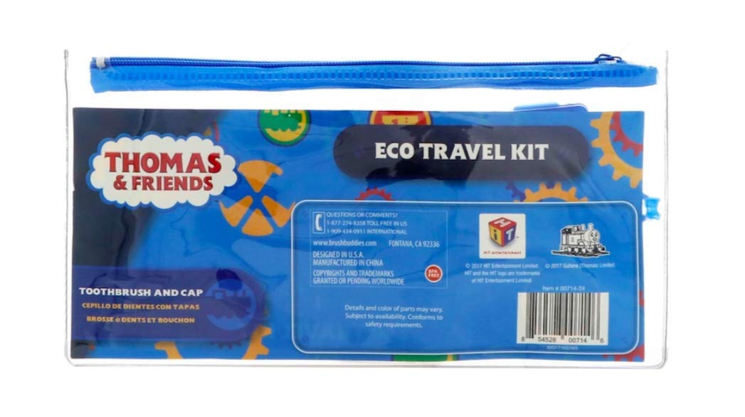 Amazon.com: Thomas & Friends Brush Buddies Eco Travel Kit, 2 Piece Kit - 2 Kits Bundle: Beauty