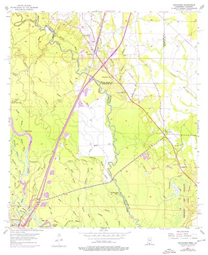 YellowMaps Nicholson MS topo map, 1:24000 Scale, 7.5 X 7.5 Minute, Historical, 1955, Updated 1976, 27 x 22 in - Polypropylene ()