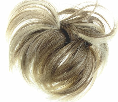 Hair Extension Scrunchie Natural Blonde up Do Down Do Mult Tones Spiky Twister Synthetic (Spiky Blonde Wig)