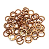 uxcell® 60Pcs 30mm OD Metal Motorcycle Exhaust Pipe Muffler Flange Gasket for GY6 125cc