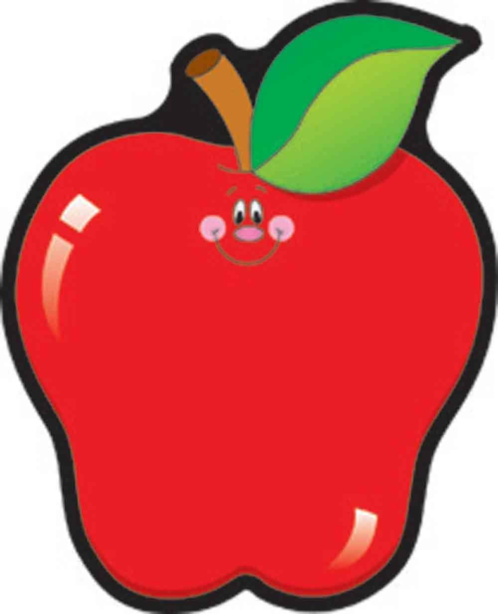 COLORFUL CUT-OUTS APPLES 36/PK